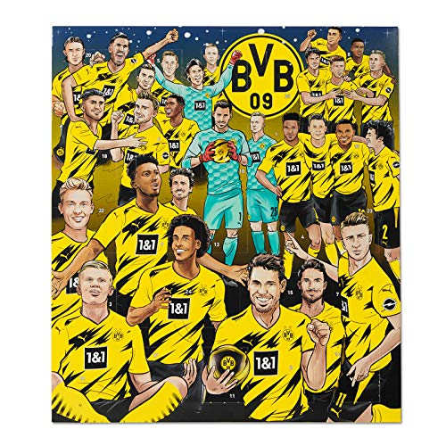 Borussia Dortmund BVB Comic Adventskalender 2020 mit Autogrammkarten Kalender