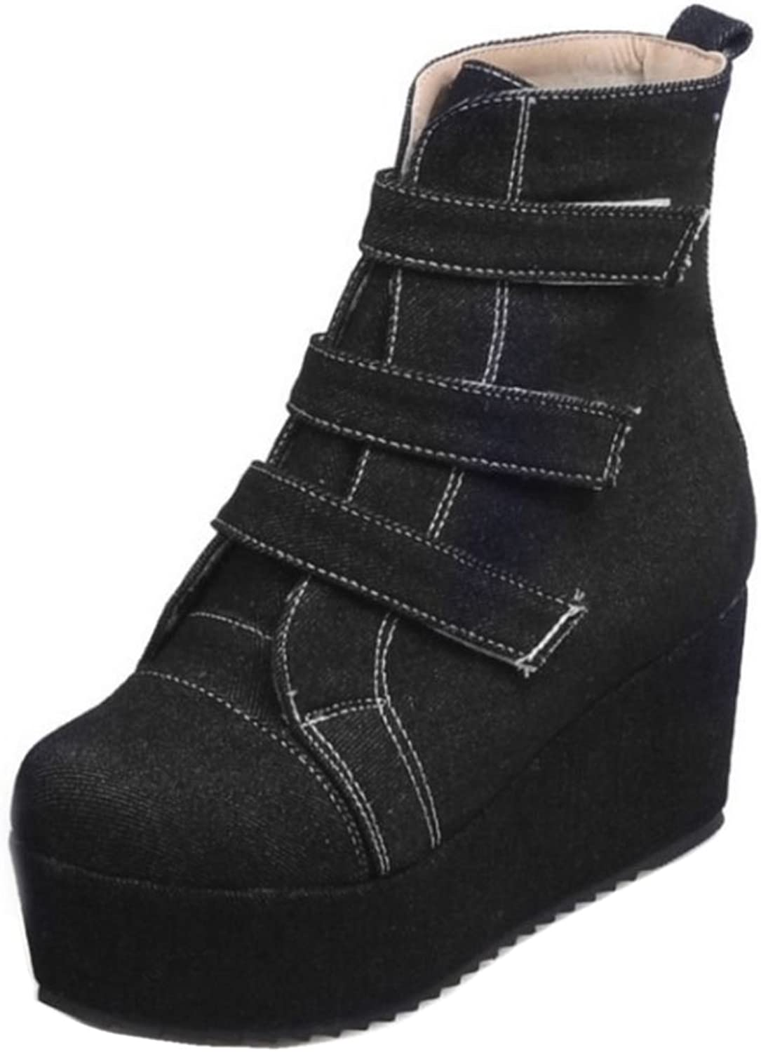 FizaiZifai Women Fashion Boots Velcro