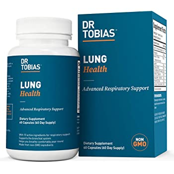 Dr. Tobias Lung Health - Lung Cleanse & Detox for Respiratory Support (60 Day Supply)