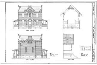 Historic Pictoric Blueprint Diagram HABS ARK,48-CLAR,1- (Sheet 4 of 8) - Old Monroe County Jail, Main & Kendall Streets, Clarendon, Monroe County, AR 12in x 08in