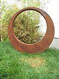 Para Jardín (Acero Inoxidable óxido de escultura de jardín de metal jardín Figure Símbolo de la suerte Jardín Decoración H95 * 95 * 5 cm 101514