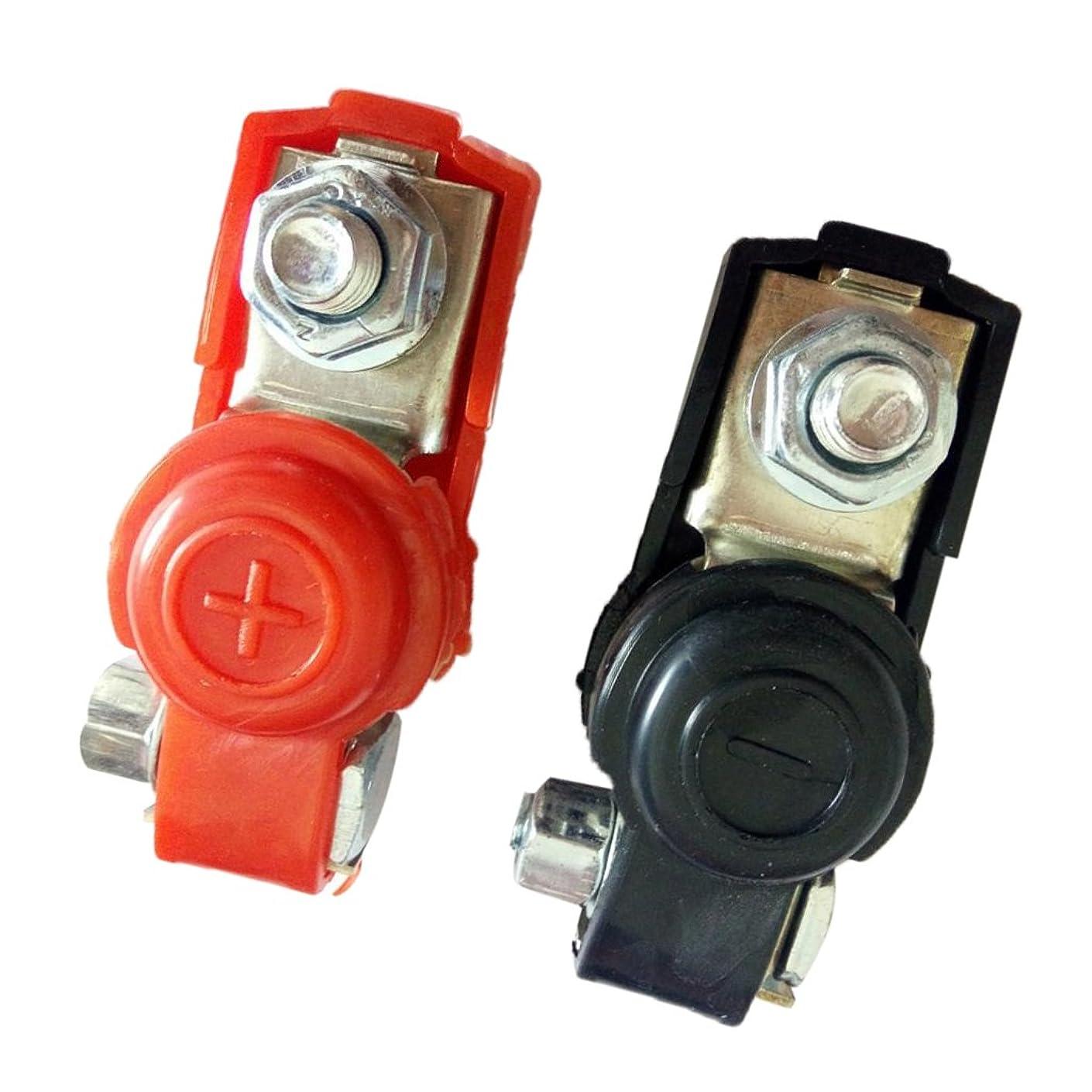 印象的な美容師何故なのBaoblaze バッテリー端子クランプ バッテリーターミナル 電池ターミナルクリップ クリップコネクタ カバー付き 2個入り 品質保証