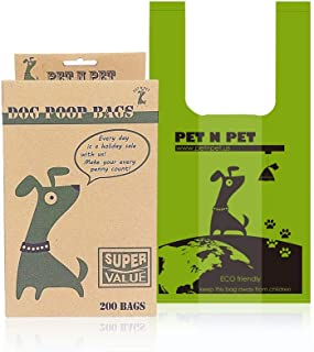 PET N PET 200 Counts Unscented Tie Handle Dog Waste Poop Bags Poo Bags