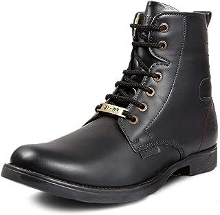 Bacca Bucci FW-16 Men's Boots, Combat Boots, Ankle Dress Boot for Men, Design Plain Toe Men Ankle Boots High Top Lace Up S...