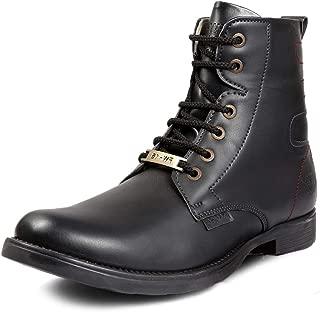 Bacca Bucci FW-16 Men's Boots, Combat Boots, Ankle Dress Boot for Men, Design Plain Toe Men Ankle Boots High Top Lace Up Dress Shoes
