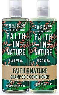 Faith in Nature - Shampoo naturale e balsamo, Per capelli normali/secchi, 400 ml + 400 ml