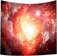 Rexinte Home Decor Solar System Planet Moon Fabric Wall Tapestry (150X130cm)