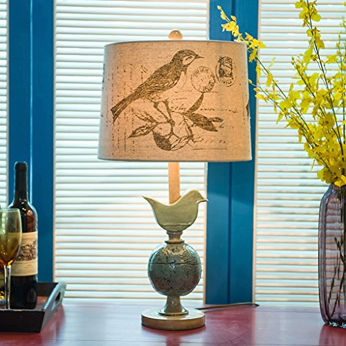 Guo Village américain de style européen pastorale Creative chambre à coucher lampe de chevet Villa club-house lampe de salon Bird lampe décorative