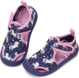 STQ Boys Girls Water Shoes Quick-Dry Slip on Beach Swim Pool Sandals(Toddler/Little Kid)