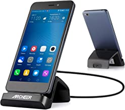 ARCHEER Charger Stand Micro USB Desk Charging Base Station Phone Dock Holder with 1M/3.28ft Micro USB Cable