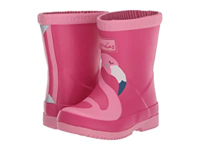 Joules Kids Welly Print (Toddler) (Pink Flamingo) Girl