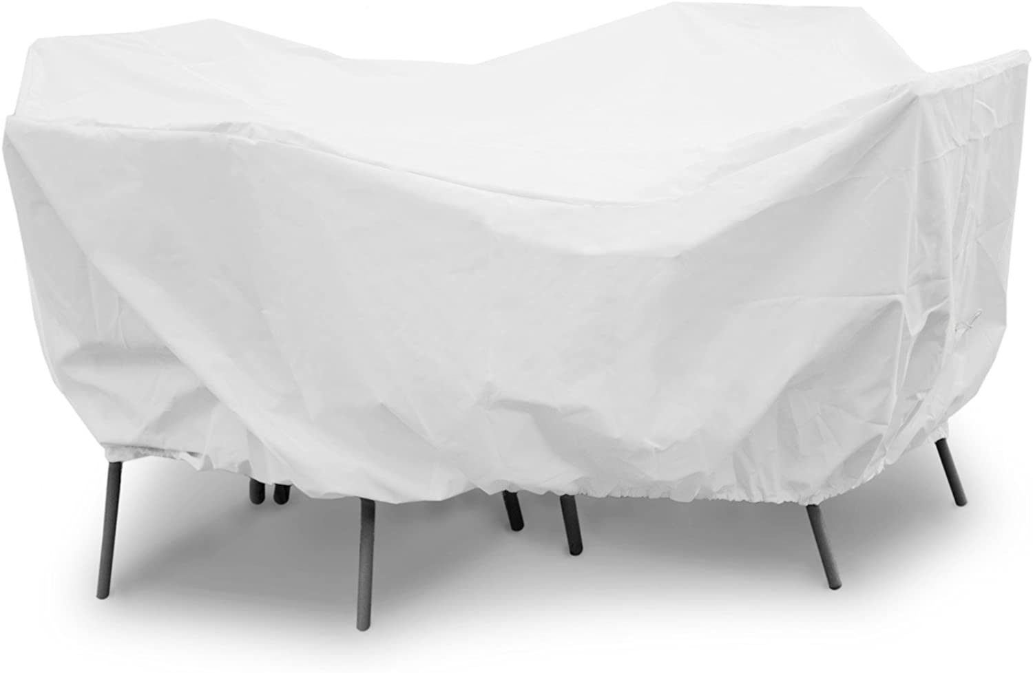 KoverRoos Weathermax 19925 36-Inch Round Table Dining Set Cover, 60-Inch Diameter by 30-Inch Height, White