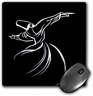 3dRose LLC 8 x 8 x 0.25 Inches Mouse Pad, Whirling Dervish - Sufi Whirling,Meditation, Dervishes,Rebirth,Love, Acrylic Painting, islam,Turkish (mp_63146_1)