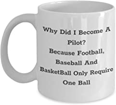 Why Did I Become A Pilot Mug - Funny Unique Gift Idea For Captain, Helicopter, Coordinator, Airplane Pilots - 11 or 15oz Cozy White Ceramic Novelty Coffee Tea Cup