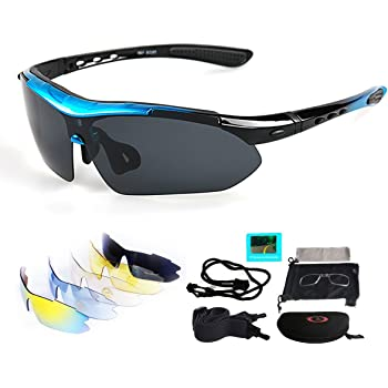 RockBros Fahrrad Brille TAC Sonnenbrille Polarisierte Brille Farbwechsel Schwarz