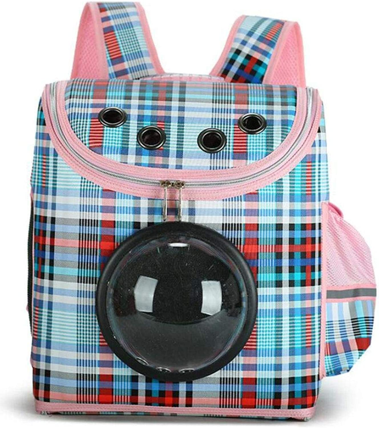 Pet Travel Carrier Dog Cat Puppy Pet Carrier Bag Innovative Traveler Bubble Pet Backpack Double Shoulder Bag Airline Travel Approved Space Pet Carriers Breathable Mesh Window for Traveling, Camping,