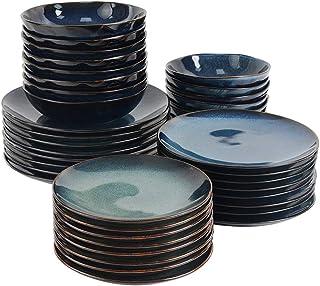 ProCook Vaasa - Service de Table en Grès - 40 Pièces/Pour 8 Personnes - Petite Assiette, Grande Assiette, Assiette à Salad...