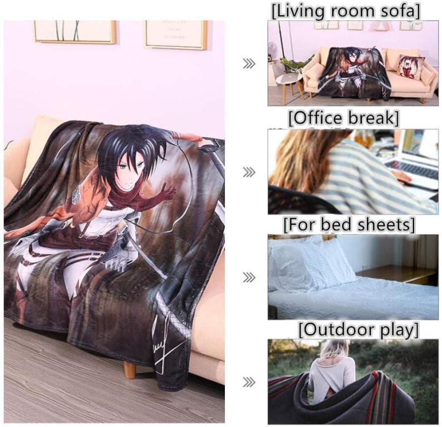 Wsjjshg Couvertures et Plaids,REM Small Super Warm Anime Warm Micro Peluche Polaire Couverture Jeter Tapis Canapé Literie Couverture A (59X79In) B(59x79in)