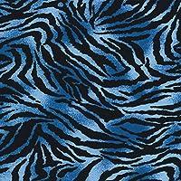 ゼブラ・ブルー オリジナル205本ブロード生地1.5mカット