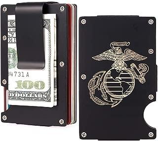 Aluminum Pocket Wallet Slim RFID Front Minimalist Money Clip Blocking Credit Card Case for Men