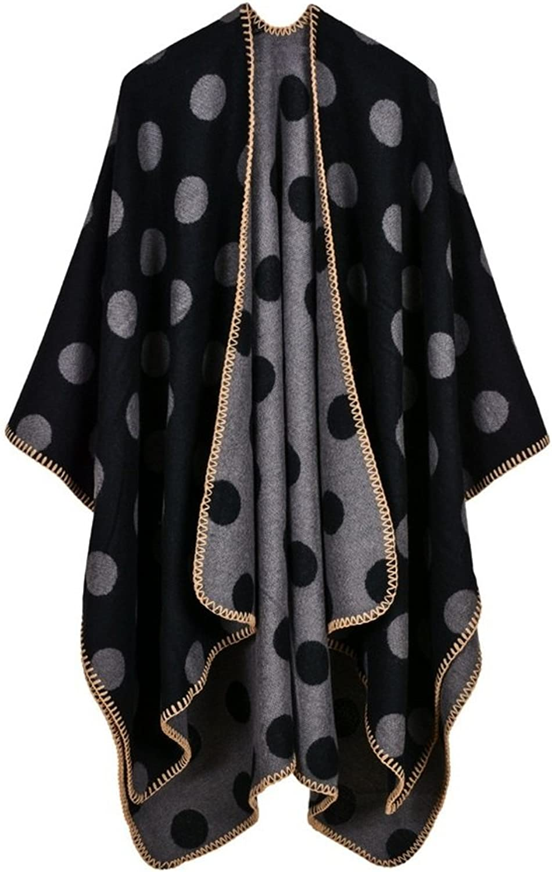 Lady's Shawl Women Shawl Scarf Winter Poncho Capes Wraps Shawl Sweater Coat Scarves Stoles Warm Soft Poncho Blanket 130  150CM Decoration ( color   3 )