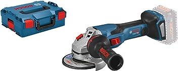 Bosch Professional GWS 18V-15 C - Amoladora angular a batería (18V, disco Ø 125 mm, BITURBO, conectable, sin batería, en L-BOXX)