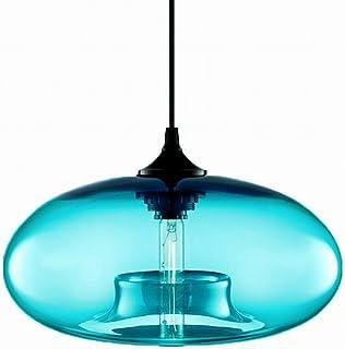 Newrays Modern Single Light Blue Glass Pendant Lighting Ceiling Light for Kitchen Island Lighting Fixtures
