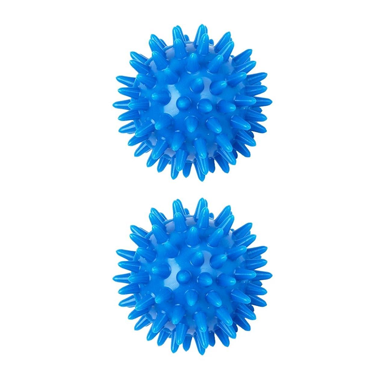 ワックスに対応する抽出sharprepublic 2個 足 足首 背中 マッサージボール 筋肉緊張和らげ 血液循環促進 5.5cm PVC製 ブルー