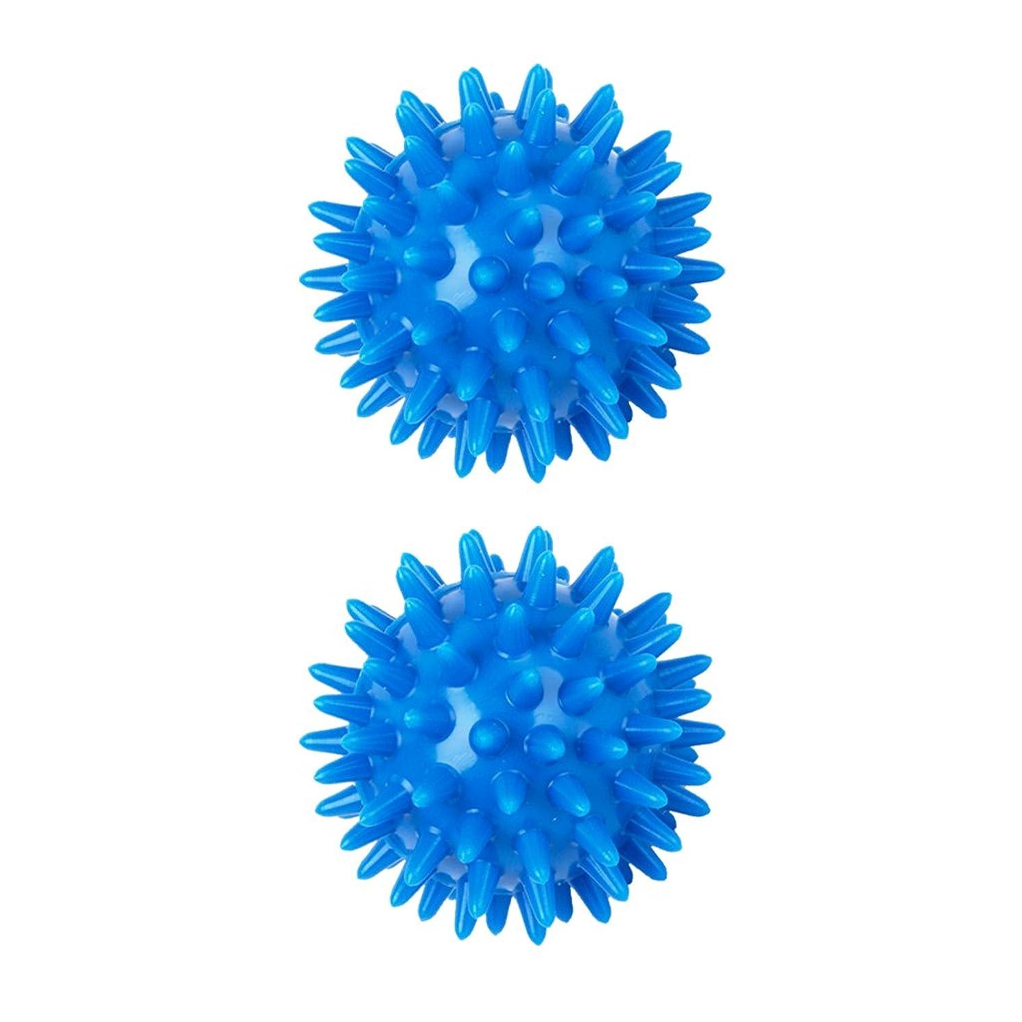 ヶ月目労働梨sharprepublic 2個 足 足首 背中 マッサージボール 筋肉緊張和らげ 血液循環促進 5.5cm PVC製 ブルー