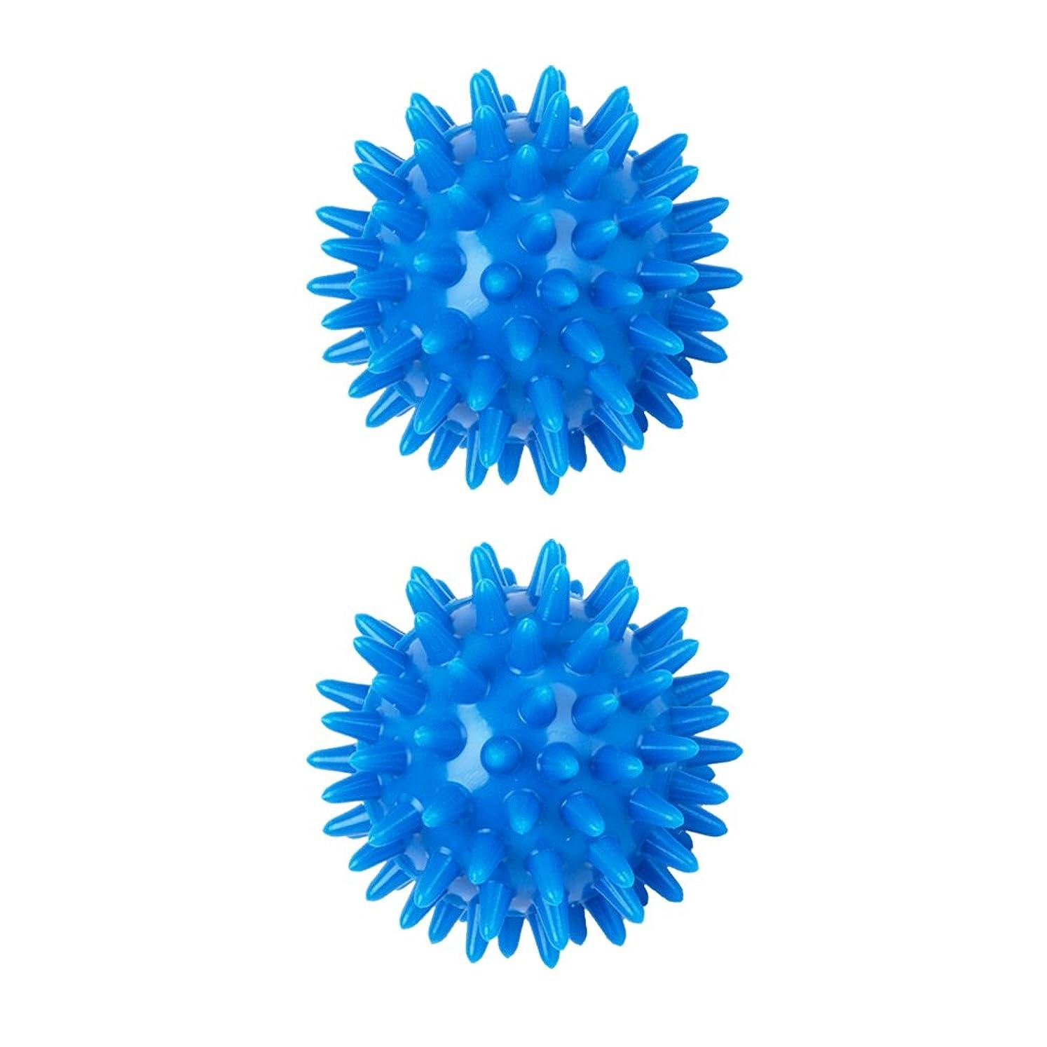 大声で誓う早熟sharprepublic 2個 足 足首 背中 マッサージボール 筋肉緊張和らげ 血液循環促進 5.5cm PVC製 ブルー