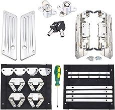 Saddlebag Mounting Hardware Theft Deterrent System Lock for Harley Touring Road Street Glide Electra 92-2020 Black