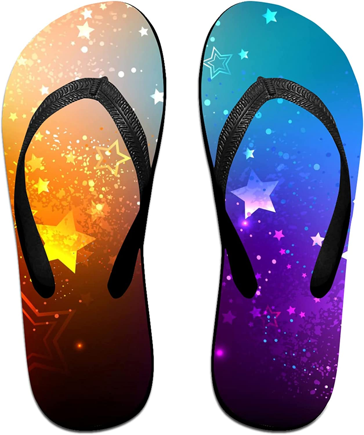 Super popular specialty store Stars on Rainbow Color Factory outlet Flip-Flop for Summer Sandals Slipp Beach