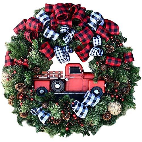 Guirnalda de la Navidad Venue Disposición de los apoyos de la guirnalda decoraciones de Navidad para la puerta Decoración de la Navidad,Red car