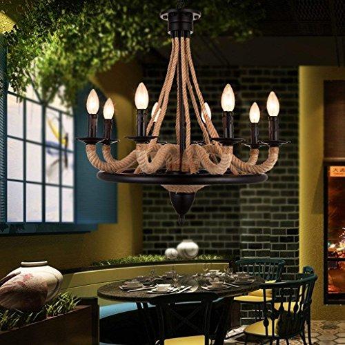 DSJ kroonluchter industrieel retro restaurant creatieve verlichting American Village bar Cafe Internet bar kunst hennep kroonluchter