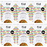 Fiid - 6 bolsas de 400 g con sabor a garbanzos marroquíes abundantes - vegetales nutritivos, veganos, con alto contenido de fibra y proteínas, sin gluten, lácteos, aditivos o conservantes