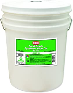 CRC Food Grade Synthetic Gear Oil, -36 to 450 Degrees Temperature, 5 Gallon Pail, Clear, ISO 220