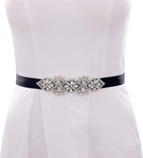 Bridal Rhinestone Pearls Wedding Bridal Belts Bridal Sashes