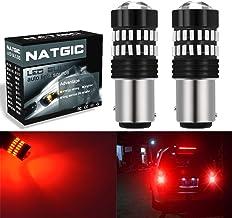 Sunwan 1157 Lot de 2 ampoules LED pour feux stop P21//5 W 380 Bay15d Rouge Super lumineux Canbus sans erreur Feux de marche arri/ère pour voiture