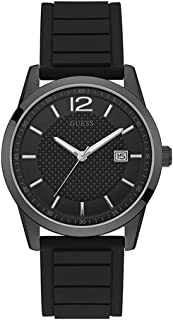 Perry Black Dial Silicone Strap Men's Watch W0991G3