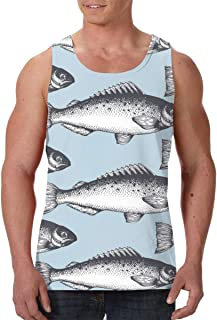Men's Sleeveless Undershirt Summer Sweat Shirt Beachwear - Sugar Skull
