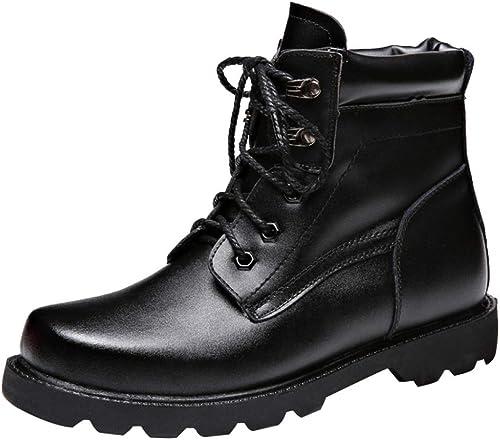 Martin Martin Bottes Chaussures d'hiver pour Homme en Cuir Chaud épais Outdoor Bottes De Randonnée Trekking à Lacets  haute qualité générale