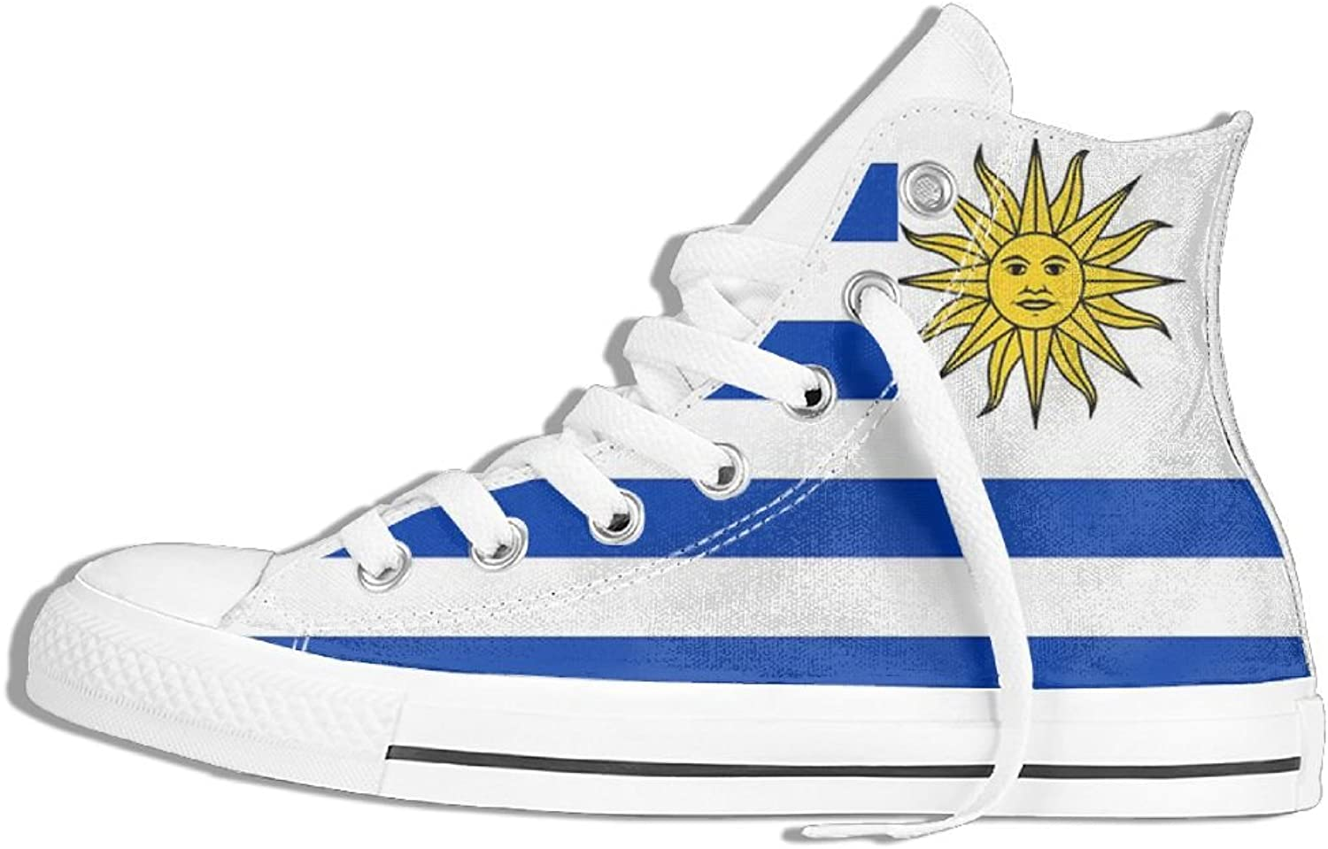 Uruguay Flag Unisex High Top Classic Casual Canvas Fashion shoes Sneakers For Women & Men