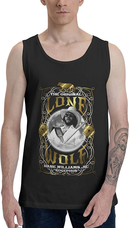 Hank Williams Jr Tank Top Men Summer Sleeveless Tee Novelty Vest
