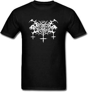 [Bonoo] メンズ コットン 半袖 Black Casual Cotton Satanic Warmaster Logo Short Sleeve Graphic T-Shirt Tee