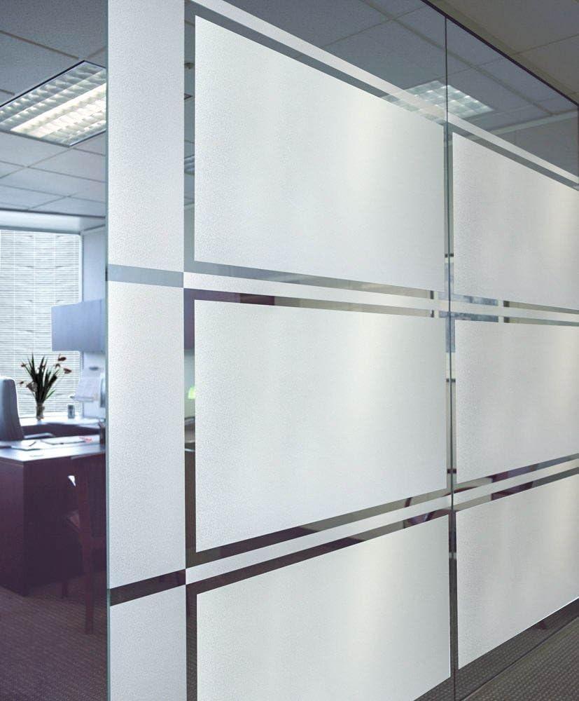 DUOFIRE 窓 めかくしシート 窓用フィルム すりガラス調・インテリア ガラスフィルム 水で貼る・貼り直し可能目隠しシート 断熱遮熱シート UVカット 艶消し白い色 DS001W (0.9M X 4M)