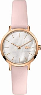Lacoste Women's White Mother Of Pearl Dial Pink Leather Watch - 2001120