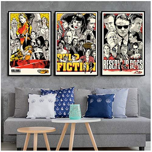 Kill Bill Pulp Fiction Quentin Tarantino Film Film Affiche Et Impressions Peinture Art Mur Photos Pour Salon Décor À La Maison-50x70 cm Sans Cadre