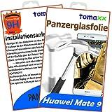tomaxx Huawei Mate 9 Panzerglas Panzerglasfolie - Glasfolie Bildschirmschutz - Qualität Glas