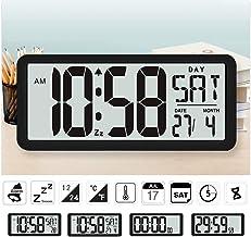 "Square Wall Clock Series, 13.8"" Large Digital Jumbo Alarm Clock, LCD Display, Multi-Functional Upscale for Office Decor De..."