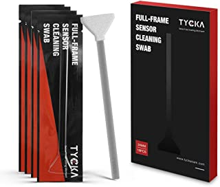 TYCKA 18pcs 24mm Wet Sensor Cleaner Cleaning Swab Kit for Full Frame DSLR, Lens, Glasses, Ideal for Absorbing and Sweeping Away Invisible Particles and Smudges